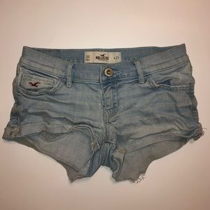 Hollister Light Blue Denim Short Shorts